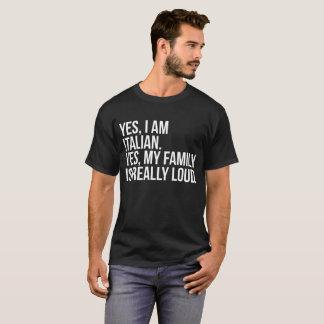 Oui je suis oui italien mon T-shirt de famille