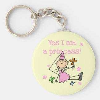 Oui je suis une princesse porte-clé rond
