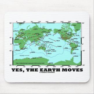 Oui la terre se déplace (les tremblements de terre tapis de souris