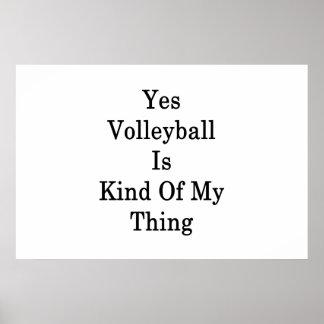 Oui le volleyball est un peu ma chose poster