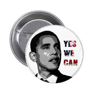 Oui nous pouvons - bouton politique d'Obama Badge Rond 5 Cm