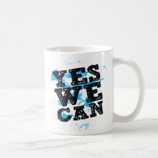 Oui nous pouvons des tasses de Barack Obama