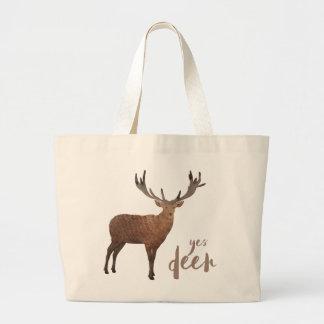 Oui sac fourre-tout à cerfs communs
