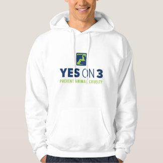 Oui sur 3 ! Sweatshirt à capuchon