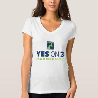 Oui sur 3 ! T-shirt de V-cou