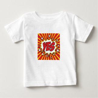 OUI T-shirt bariolé d'art de bruit, stupéfiant !