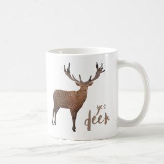 Oui tasse de cerfs communs