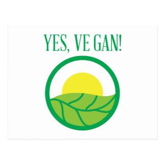 Oui végétalien ! carte postale