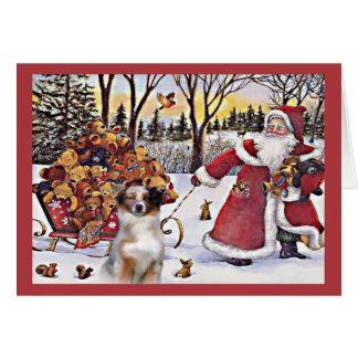 Ours australiens de Père Noël de carte de Noël de