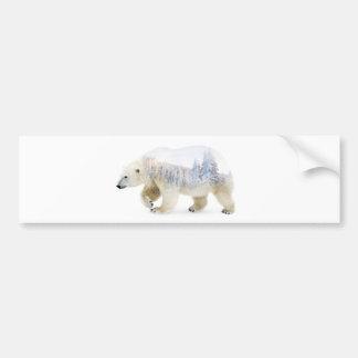 Ours blanc autocollant de voiture