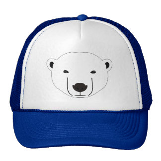 Ours blanc casquette trucker