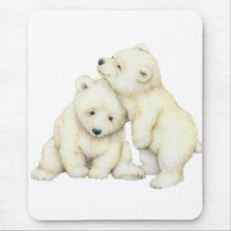 tapis de souris ours blanc personnalis s. Black Bedroom Furniture Sets. Home Design Ideas