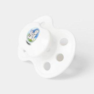 ours blanc dans la bulle tétines pour bébé