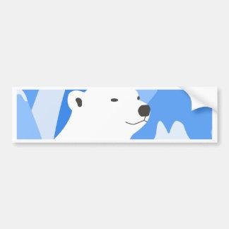 Ours blanc dans la conception froide autocollant de voiture