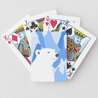 Ours blanc dans la conception froide jeu de cartes
