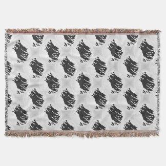 Ours blanc dans le gris couvre pied de lit