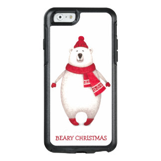Ours blanc de Beary de citation drôle mignonne de Coque OtterBox iPhone 6/6s