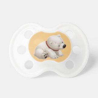 Ours blanc de bébé de Сharming (tétine orange) Sucette Pour Bébé