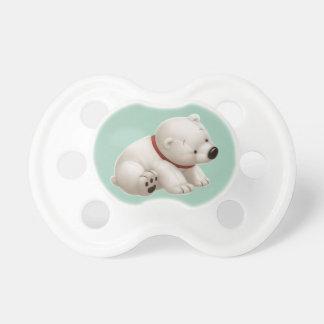 Ours blanc de bébé de Сharming (tétine verte) Tétines