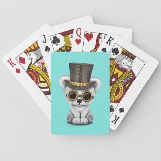 Ours blanc de bébé mignon de Steampunk Cartes À Jouer