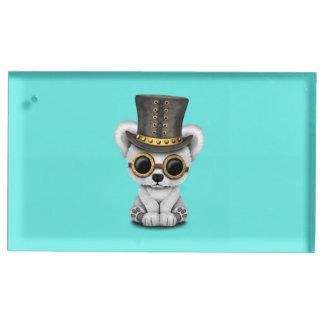 Ours blanc de bébé mignon de Steampunk Porte-cartes De Placement