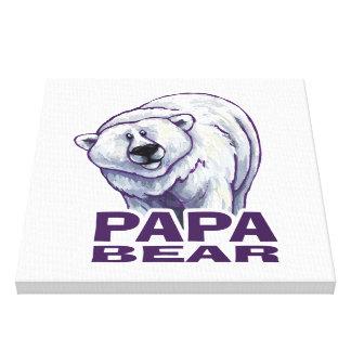 Ours blanc de papa impressions sur toile