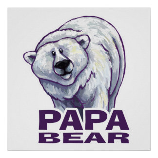 Ours blanc de papa poster