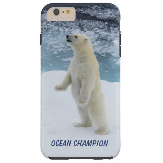 Ours blanc debout coque tough iPhone 6 plus