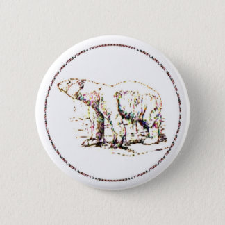 Ours blanc I Badge