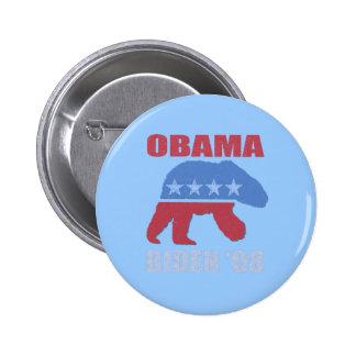 Ours blanc Obama Biden de 'Pin 08 boutons Pin's Avec Agrafe