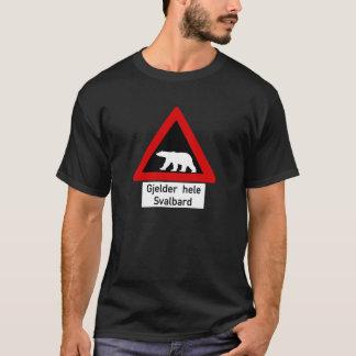 Ours blanc, poteau de signalisation, Norvège T-shirt