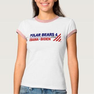 Ours blancs 4 Obama Biden 2008 T-shirt