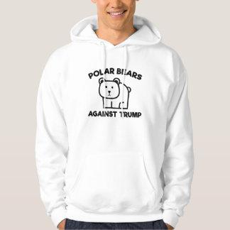 Ours blancs contre l'atout veste à capuche