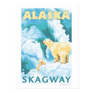 Ours blancs et CUB - Skagway, Alaska Carte Postale