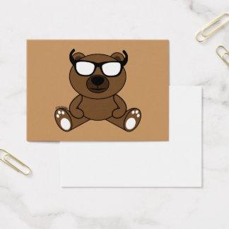 Ours brun frais personnalisable avec des lunettes cartes de visite