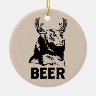 Ours + Cerfs communs bière Décoration De Noël