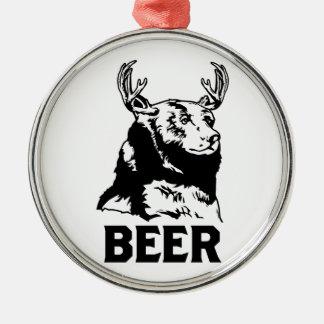 Ours + Cerfs communs = bière Décorations De Noël