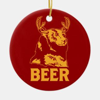 Ours + Cerfs communs = bière Décorations Pour Sapins De Noël