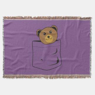 Ours dans la poche couvre pied de lit