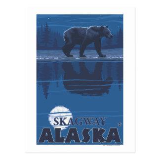 Ours dans le clair de lune - Skagway, Alaska Cartes Postales