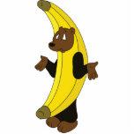 Ours dans le costume de banane photos en relief