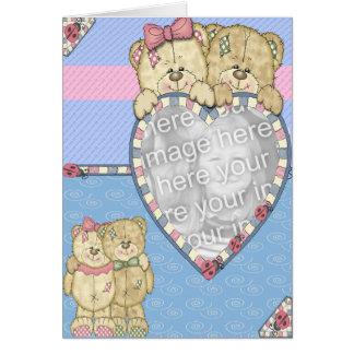 Ours de bébé carte de vœux