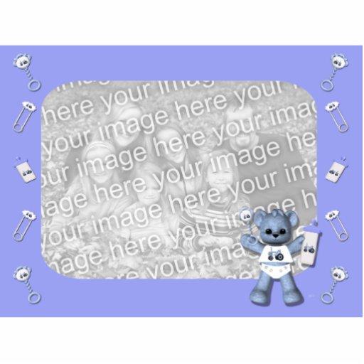 Ours de bleus layette et sculpture bleue en photo  photo en relief