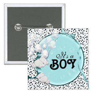 ours de faire-part de naissance de bébé badge carré 5 cm