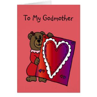 ours de fille tenant le valentine pour la carte de