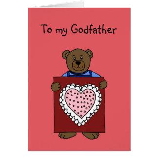 ours de garçon tenant le valentine pour la carte d