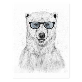 Ours de geek (bleu) carte postale