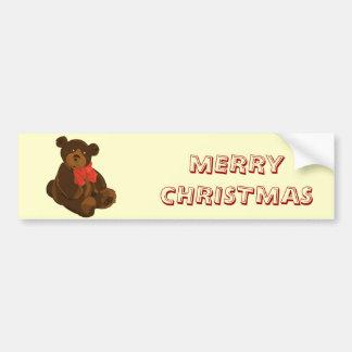 Ours de Joyeux Noël Autocollant De Voiture
