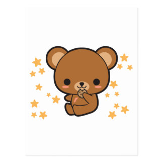 Ours de Kawaii Brown Cartes Postales