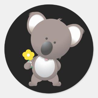 Ours de koala Animated Sticker Rond